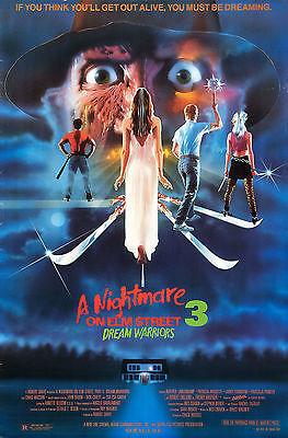 "A NIGHTMARE ON ELM STREET 3 DREAM WARRIORS Silk Movie Poster Horror 24""x36"""