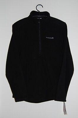 NWT Avalanche Men's Black Fairmount Quarter Zip Fleece LS Pullover sz S or M Quarter-zip Fleece Pullover
