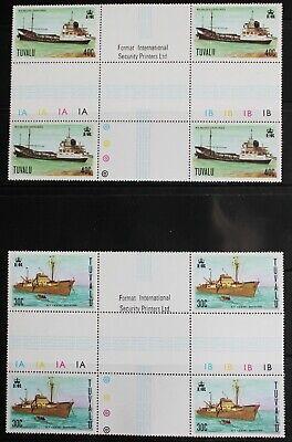 Tuvalu – 1978 Ships – CROSS GUTTERS Block of 4 – UM (MNH) (R6)