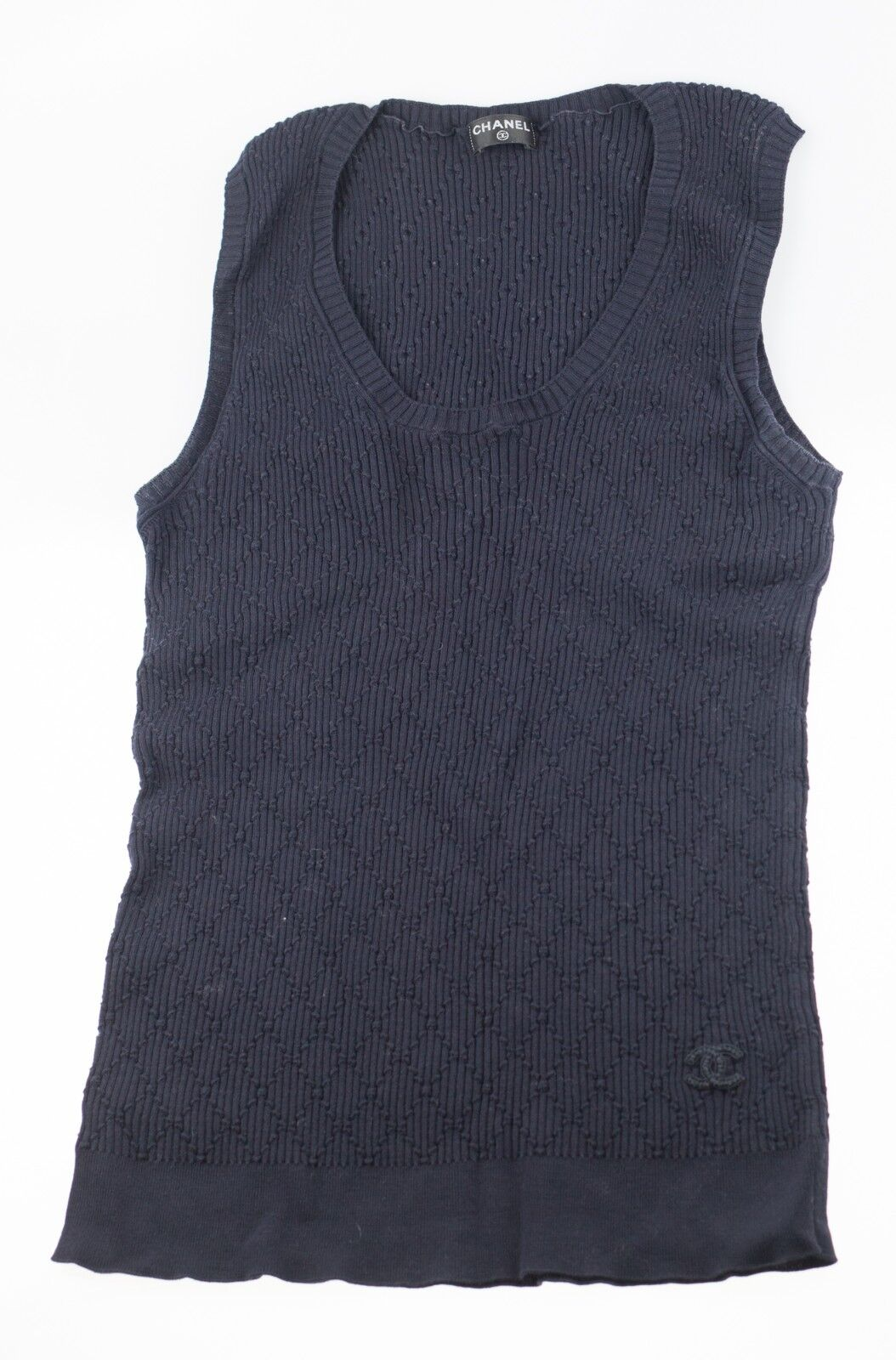 Chanel oberteil T-Shirt dunkelblau FR40 (=DE38)