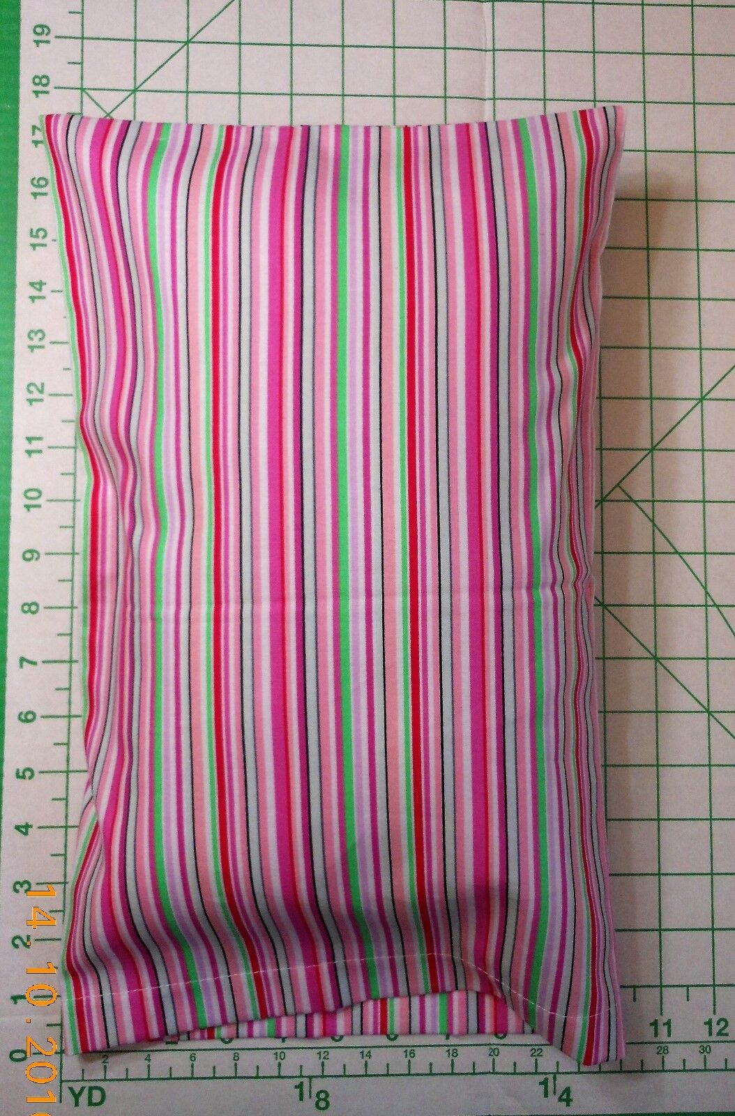STRIPES with pink and green -  small Pillow Case & 1 WHITE T