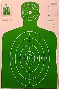 Shooting targets green 23 quot x 35 quot police nra size b 27 qty 100 ebay