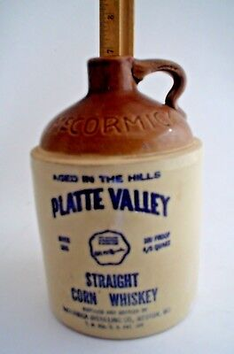 McCormick's Platte Valley Straight Corn Whiskey Jug 100 Proof Moonshine