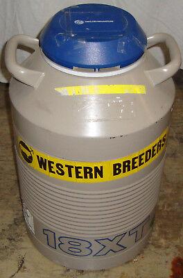 Taylor Wharton 18xt Xt 18 Liter Cryogenic Refrigerator Dewar W 6 Canisters