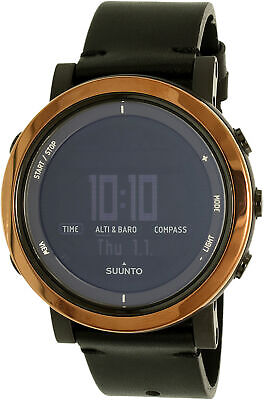 Suunto Men's Essential SS022439000 Black Leather Swiss Quartz Sport Watch