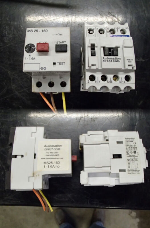 Automation Direct Starter MS25-160 & Contactor GH15BN Used Pair