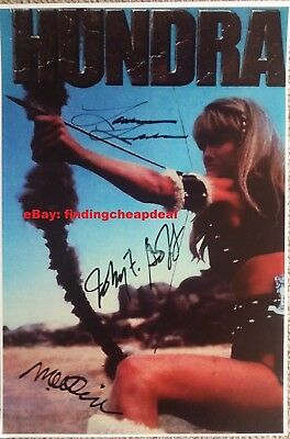 HUNDRA MOVIE SIGNED LAURENE LANDON+CIMBER+GOFF POSTER 12x18 REPRINT WONDER WOMAN