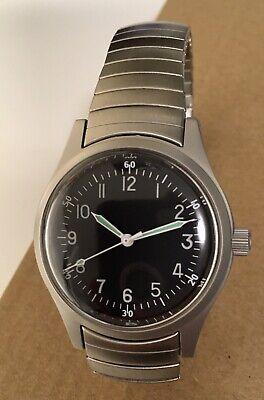 MWC A-11 1940s World War II Pattern Military Automatic Watch on Steel Bracelet