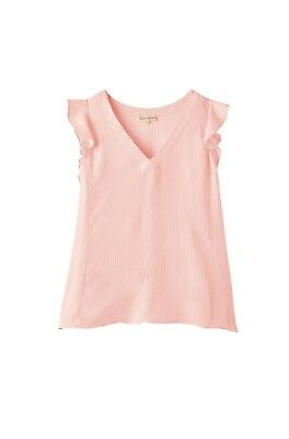 Ruffled Silk Top (REBECCA TAYLOR Ruffled Silk V-Neck Top, Size 0)