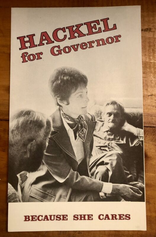Stella Hackel Sims for Governor Of Vermont political Brochure 1976