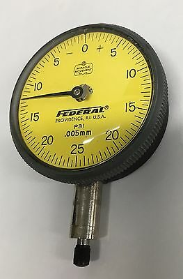 Mahr Federal P3i Group 2 Dial Indicator 0-1.25mm Range 0.005mm Graduation