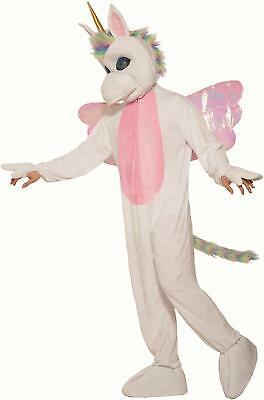 Mythical Unicorn White Fantasy Mascot Costume for - Fantasy Costumes For Adults