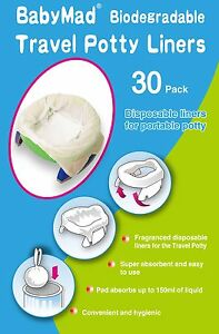 Travel Potty Liners ECO Disposable Plus Compatible With OXO/Babyway - 30 PACK