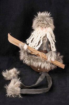 Santa Gnome Shelf Sitter Winter Skier Tabletop Mantle Holiday Christmas Display (Halloween Mantel Displays)