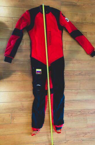 Vertical Mens Skydiving Jumpsuit, Viper Suit , Red & Black
