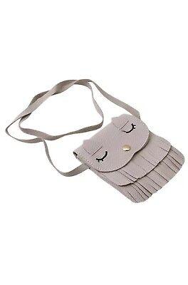 Cat Tassel Shoulder Bag Small Coin Purse Crossbody Satchel for Kids Girls-Gray - Bags For Kids