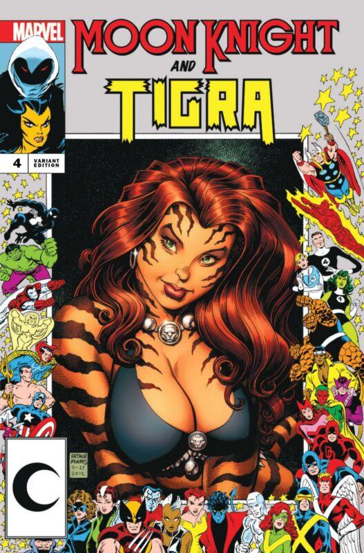 Moon Knight #4 Ultimate Comics Exclusive Art Adams Marvel Frame Variant Tigra