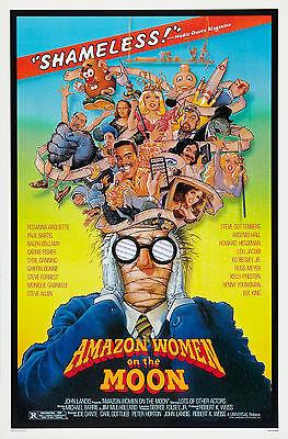Amazon Women On The Moon  1987  Original Movie Poster    Rolled    Stout Artwork
