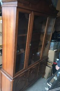 Beautiful china cabinet with interior lights