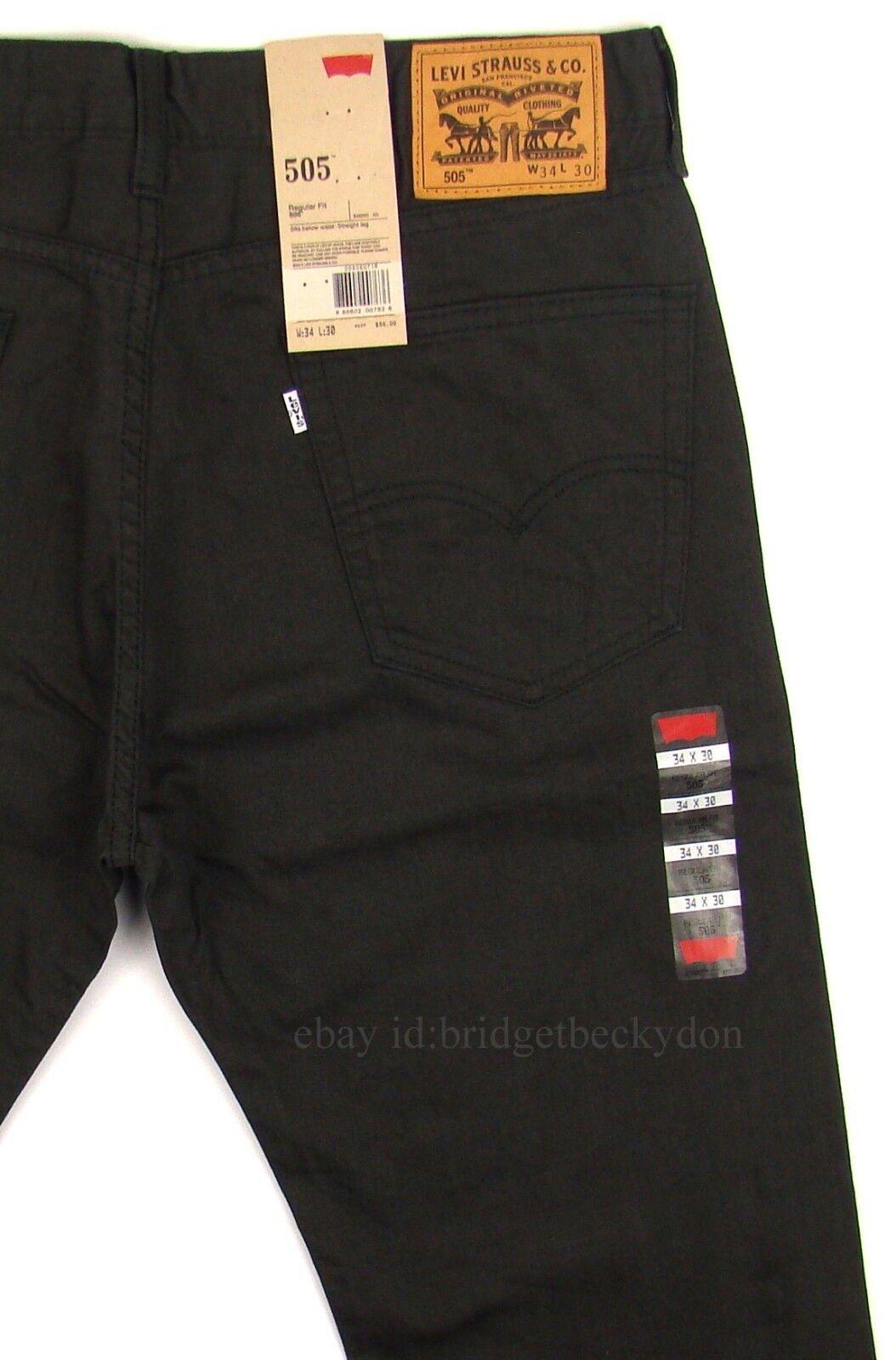 9355ed73209 Levis 505 Jeans New Mens Regular Fit Straight Leg 29 30 31 32 33 34 36