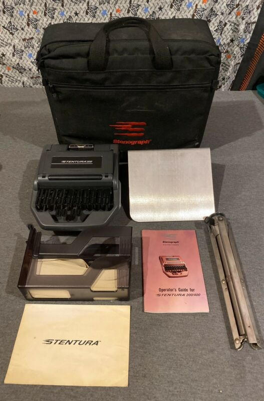 Stenograph Stentura 200 with Stand & Padded Case For Court reporter