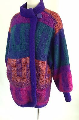 Carlisle Couture Heavy Knitted Womens Sweater Coat/Jacket Vintage 1980s fashion