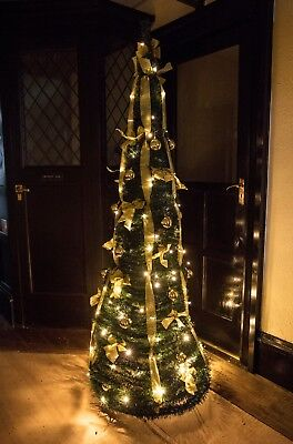 Prelit Green 189CM Decorated Pop-Up Christmas Tree With 120 Battery LEDs