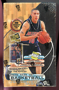1998-99 Press Pass '98 Basketball Card Set Wax Pack Box 98 1999