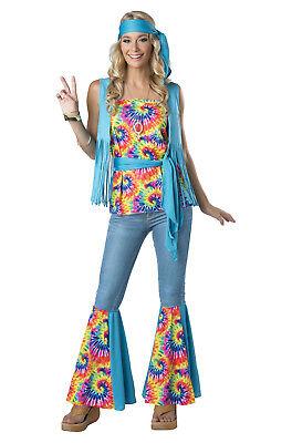 Hippie Groovy 60s 70s Adult Costume - Groovy Hippie Costume