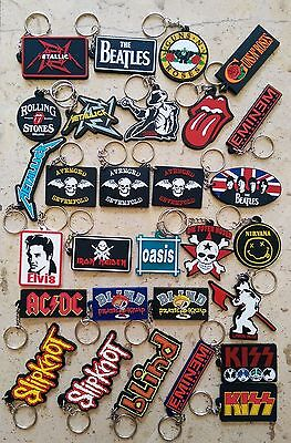 Music Band Rubber Keyring Keychain Collectible : Pop Rock Punk Heavy Metal Ska