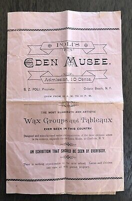 1892 Eden Musee wax museum of horrors, Ontario Beach, New York (Rochester) Poli