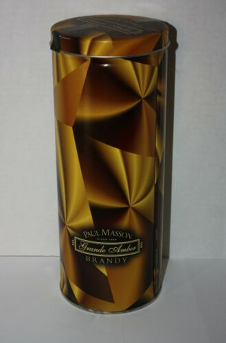 PAUL MASSON Grande Amber Brandy Liquor Gift Tin Container
