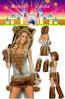 Animal Costume  Brown Big Bad Wolf Furry Fancy Party Dress Costume COS029
