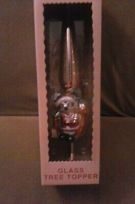 Disney Store Mickey Mouse as Santa Claus Christmas Tree Topper NEW IN BOX