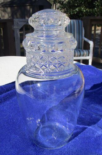 Vintage Dakota Apothecary Drug Store Candy Jar  Globe Clear Glass
