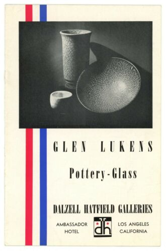 Glen Lukens Pottery Glass Catalogue with Hand written/signed letter by Lukens