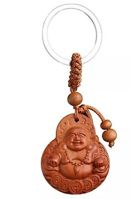 Rosewood Lucky Buddha Key Chain](Buddha Keychain)