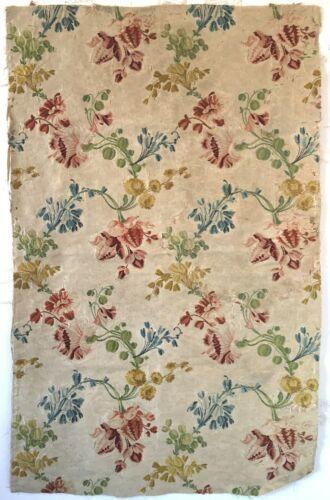 Beautiful Rare 18th C.  French Silk Woven Brocade Fabric  (2942)