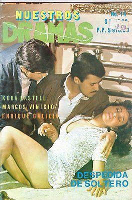 """FOTONOVELA MEXICO, """"Nuestros Dramas, KORA CASTELL, MARCOS VINICIO, TV Y NOVELAS"""