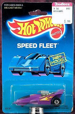 Hot Wheels Speed Fleet XT-3 1484 Purple Mint On Card 1989