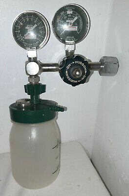 Vintage Chemetron Dual Gauge Oxygen Regulator Steam Punk W Water Bottle Hudson