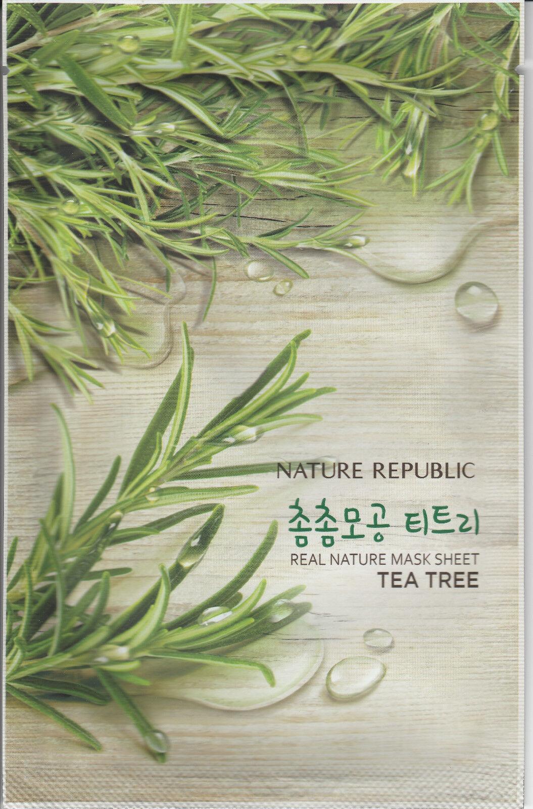 Nature Republic Korean Beauty Sheet Face Mask Set 5x Natural