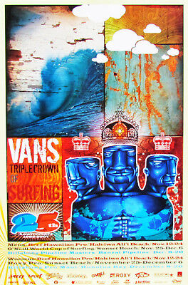 594f93df85 Official 2007 25th Anniversary Triple Crown Surfing Hawaii Contest New  Poster