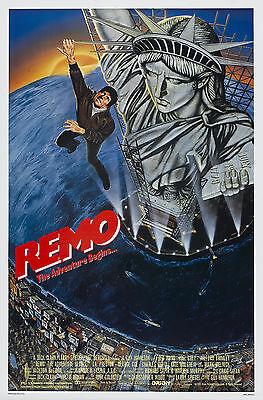 REMO WILLIAMS: THE ADVENTURE BEGINS (1985) ORIGINAL MOVIE POSTER  -  ROLLED