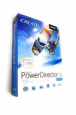 CyberLink PowerDirector 16 Ultra Video Schnittsoftware Windows CD BOX
