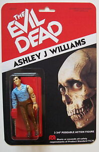 Custom made 3 3/4 Ash Williams Evil Dead vintage style action figure MOC