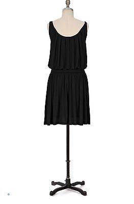 Deletta Anthropologie Black Cinched Waist Jersey Dress Size Small S (Cinched Waist Jersey Dress)
