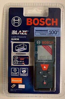 Bosch Blaze Glm 30 100ft Laser Measure New-sealed