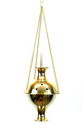 Large Brass Hanging Incense Burner 6.5