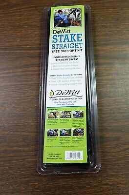 DEWITT Stake Straight Tree Support Kit - Polypropylene - Black - RS15, Black